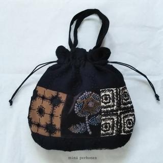 ミナペルホネン(mina perhonen)のミナペルホネン ミニ巾着バッグ パッチ&skyful(バッグ)