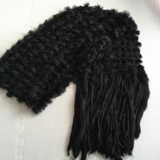 DOUBLE STANDARD CLOTHING - ダブルスタンダードクロージング ファーマフラー ロングマフラー 黒色
