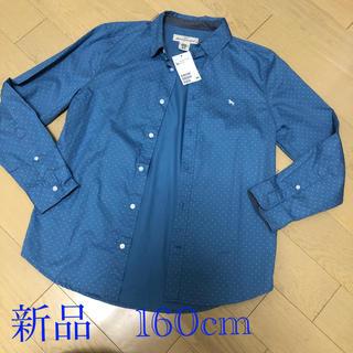 エイチアンドエム(H&M)の新品タグ付き★H&M 水玉シャツ 160cm (ブラウス)