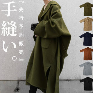 アンティカ(antiqua)のアンティカ 今期完売カラー 手縫いコート ベージュ 新品未使用(ロングコート)