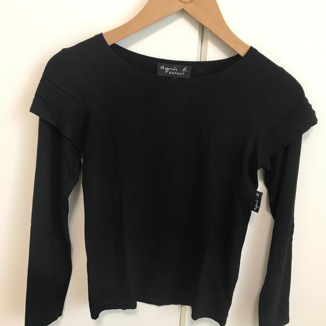 agnes b.(アニエスベー)のアニエスベー キッズ レイヤード カットソー 8才 120-130cm キッズ/ベビー/マタニティのキッズ服女の子用(90cm~)(Tシャツ/カットソー)の商品写真