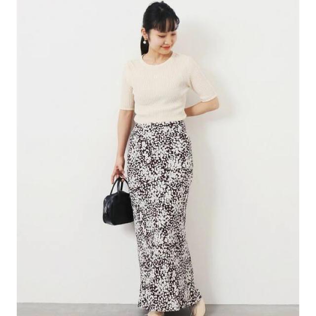 EDIT.FOR LULU(エディットフォールル)のEDITFORLULU  マキシスカート ブラウン レディースのスカート(ロングスカート)の商品写真