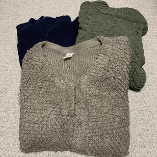 しまむら - セーター カーディガン 3着セット