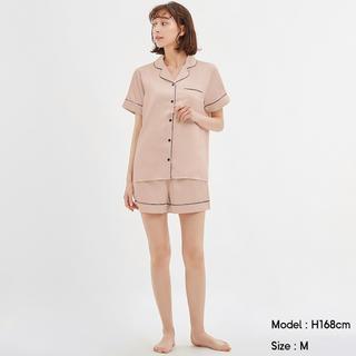 GU - GU サテンパジャマ 半袖