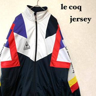 ルコックスポルティフ(le coq sportif)の<le coq sportif> 90s 万国旗タグ マルチカラー ジャージ (ジャージ)