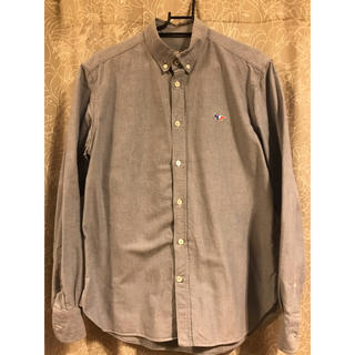 メゾンキツネ(MAISON KITSUNE')のメゾンキツネ BDシャツ ブルー オックスフォード 40(シャツ)
