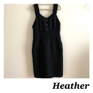 heather - 【新品】Heather♥️ヘザー ジャンパースカート サイドジッパー ブラック