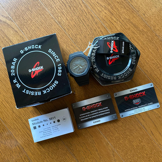 ジーショック(G-SHOCK)の【北米仕様・未使用】G-SHOCK GA2100-1A1 ブラックダイヤル(腕時計(アナログ))
