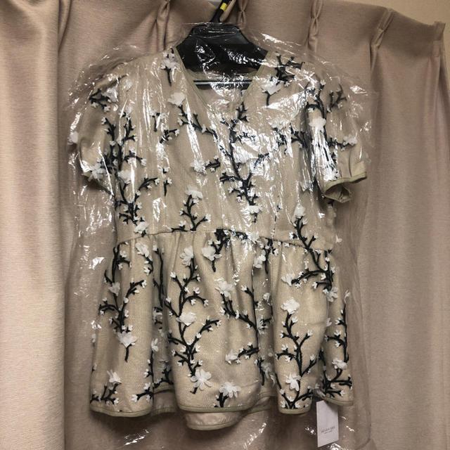 Chesty(チェスティ)の新品セブンテン  seventen ツイード刺繍トップス レディースのトップス(シャツ/ブラウス(半袖/袖なし))の商品写真