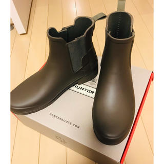 ハンター(HUNTER)の美品 ハンター サイドゴアレインブーツ(レインブーツ/長靴)