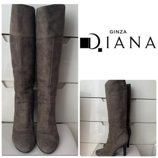 DIANA - ダイアナ グレースエード ロングブーツ