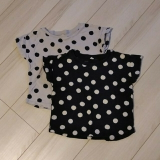 MUJI (無印良品) - 無印良品MUJI★ドット柄Tシャツ2枚