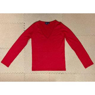 アニエスベー(agnes b.)のアニエスベー Vネックセーター 赤色 長袖(ニット/セーター)