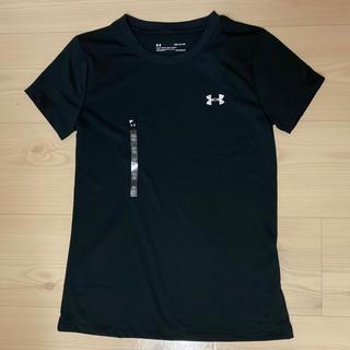 アンダーアーマー(UNDER ARMOUR)のアンダーアーマー レディース  トレーニングシャツ Tシャツ 黒 半袖(トレーニング用品)