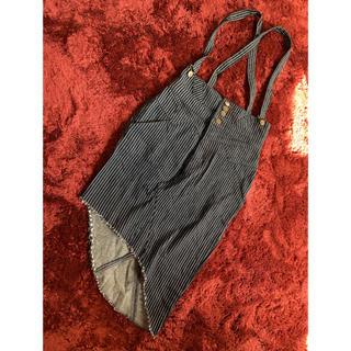 Lily Brown - リリーブラウン デニムサロペットタイトスカート