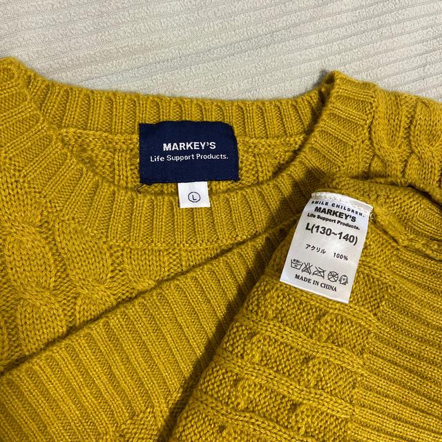 MARKEY'S(マーキーズ)のMARKEY'S 130〜140ニット キッズ/ベビー/マタニティのキッズ服男の子用(90cm~)(Tシャツ/カットソー)の商品写真