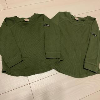 プティマイン(petit main)のpetit main ワッフルロンT 兄弟お揃いセット(Tシャツ/カットソー)