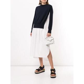 エンフォルド(ENFOLD)のEnfold colour-block flared dress(ロングスカート)