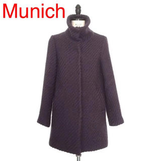 【Munich】ウールツイードコート(ロングコート)