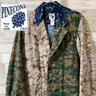 【pinecone】クレイジーパターンデジタルカモ ジャケット(テーラードジャケット)