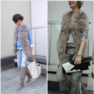 ダブルスタンダードクロージング(DOUBLE STANDARD CLOTHING)のDOUBLE STANDARD CLOTHING ダブスタ ファーベスト(ベスト/ジレ)