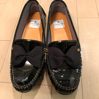 ランバンオンブルー(LANVIN en Bleu)のランバン サイズ24.5(ローファー/革靴)