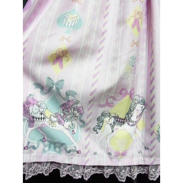 Angelic Pretty(アンジェリックプリティー)のAngelic Pretty/Milky Pony Carnival JSK レディースのワンピース(ひざ丈ワンピース)の商品写真