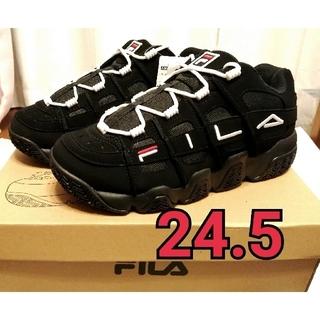 フィラ(FILA)の【お値下げ】BTS FILA コラボスニーカー ブラック 24.5cm♡(スニーカー)
