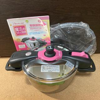 ワンダーシェフ(ワンダーシェフ)のワンダーシェフ 家庭用両手圧力鍋3.7L 魔法のクイック料理 AQDB37(鍋/フライパン)