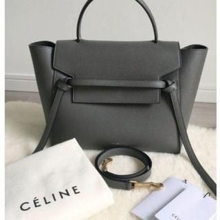 celine - 【CELINE】  ベルトバッグ グレー