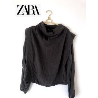 ZARA - 【ZARA 新品】ザラトップス レデース M 片面裏起毛 おしゃれ グレー