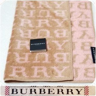 BURBERRY - BURBERRYタオルハンカチ・ロゴ