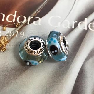 スワロフスキー(SWAROVSKI)のパンドラ PANDORA水色ムラノガラスてんとう虫チャームセット(チャーム)