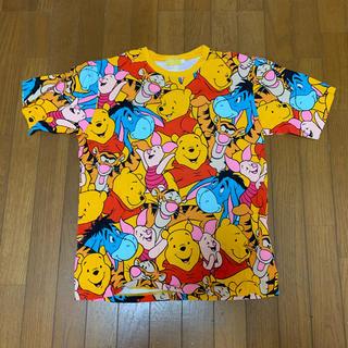 Disney - Disney プーさん総柄 Tシャツ