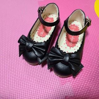 Shirley Temple - シャーリーテンプル 女の子ブラックシューズ 15センチ