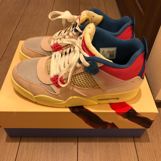 NIKE(ナイキ)のUNION × NIKE AIR JORDAN 4 GUAVA ICE メンズの靴/シューズ(スニーカー)の商品写真