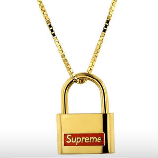 Supreme - Supreme Jacob & Co.14K Gold Lock Pendant