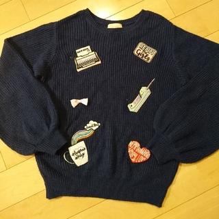 レピピアルマリオ(repipi armario)のrepipi  armario紺色 セーター(ニット/セーター)