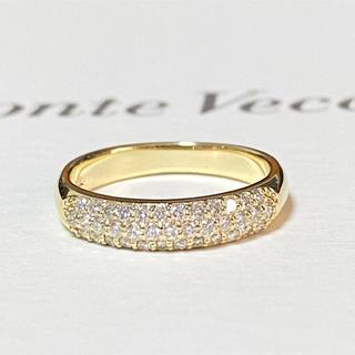 ポンテヴェキオ(PonteVecchio)のポンテヴェキオ K18YGダイヤモンドリング 12号 美品 ピッコリーニ ラテ(リング(指輪))