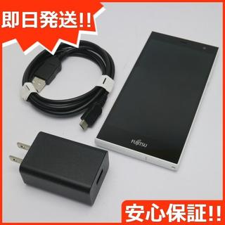 フジツウ(富士通)の美品 SIMフリー arrows M02 ホワイト (スマートフォン本体)