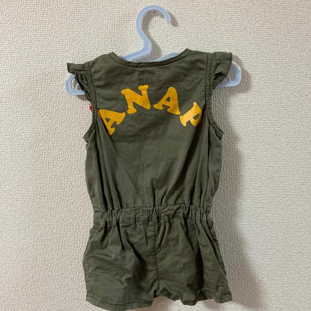 ANAP Kids(アナップキッズ)の90 ANAPKIDS 深緑 リボン キッズ/ベビー/マタニティのキッズ服女の子用(90cm~)(ワンピース)の商品写真