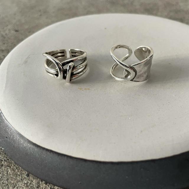 Width Surface Knot & Chain ring  メンズのアクセサリー(リング(指輪))の商品写真