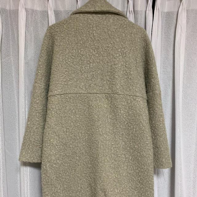 ZARA(ザラ)のZARA ザラ ブークレチェスターロングコート レディースのジャケット/アウター(ロングコート)の商品写真