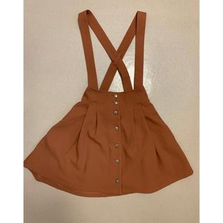 ミスティウーマン(mysty woman)のサロペットスカート(ひざ丈スカート)