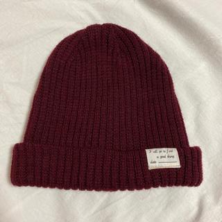 レプシィム(LEPSIM)のLEPSIM 赤ニット帽(ニット帽/ビーニー)