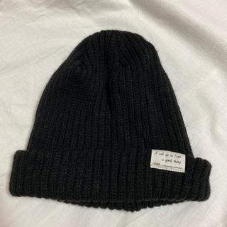 レプシィム(LEPSIM)のLEPSIM 黒ニット帽(ニット帽/ビーニー)