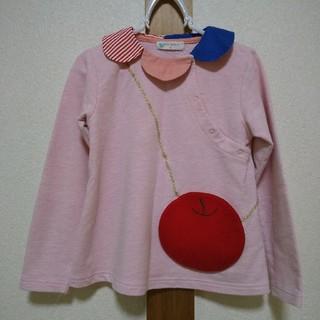 ナルミヤ インターナショナル(NARUMIYA INTERNATIONAL)のbaby cheer 120サイズ りんごポシェットカットソー ベイビーチアー(Tシャツ/カットソー)