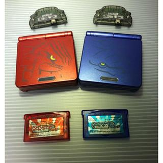 ゲームボーイアドバンス(ゲームボーイアドバンス)のゲームボーイアドバンスSP本体 グラードン・カイオーガカスタム(携帯用ゲーム機本体)