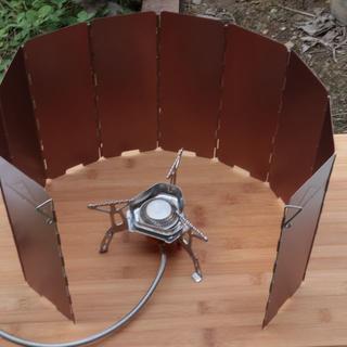 コンパクト ウィンドスクリーン 風防 バーナー風よけ 収納プラケース付(大)(ストーブ/コンロ)
