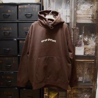 overprint オーバープリント ブラウン パーカー XL フーディー(パーカー)